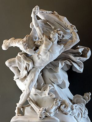Prometheus depicted in a sculpture by Nicolas-Sébastien Adam, 1762 (Louvre) - Source, Wikipedia